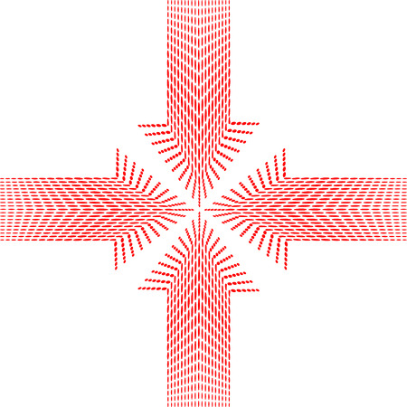 Vector of four red arrows pointing in to the center Vector