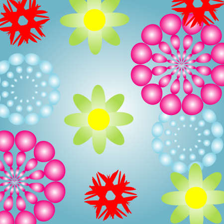 Abstract flower pattern  Stock Vector - 4266157