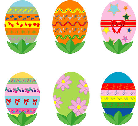 Set of nine vector easter eggs Vector