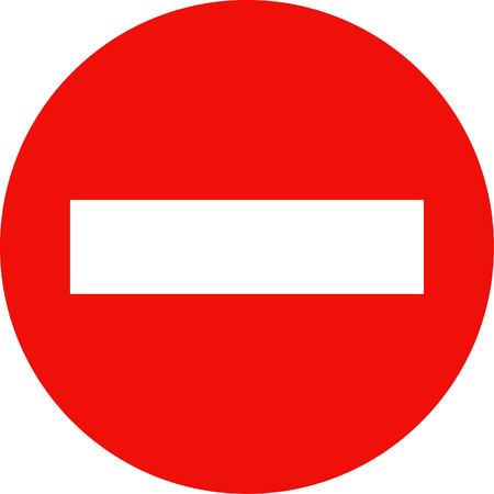 Sign indicating no entry