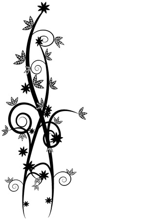 Floral vines background with space to insert your own text Illustration