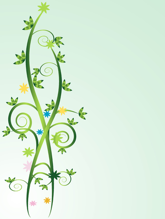 Floral vines background with space to insert your own text Stock Vector - 4534737