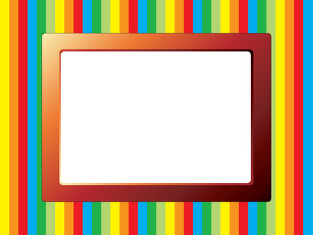 Colorful stripes behind a frame for text