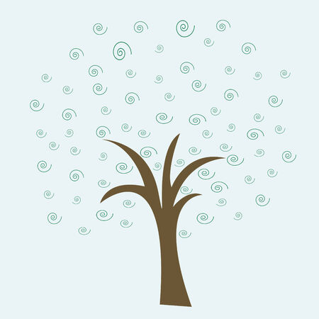 Simple abstract tree as a background Illustration