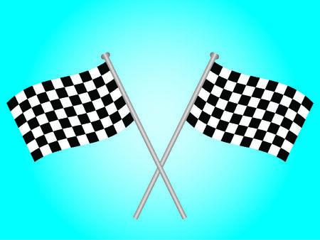 indie: Dos banderas a cuadros cruzaron mutuamente