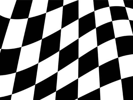 f1: Chequered flag Illustration