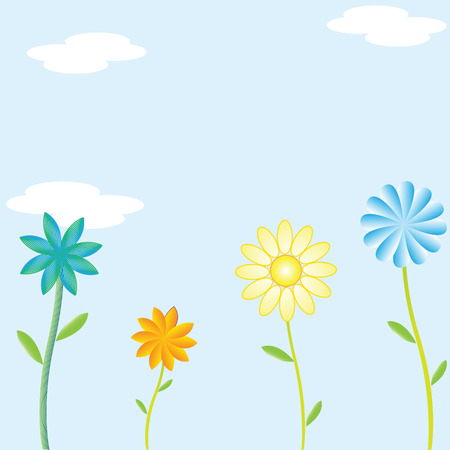 Floral vector greeting card Illustration