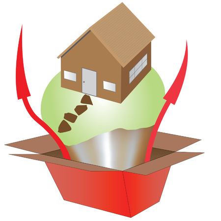 Vector concept of the rising property market
