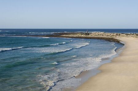 The rocky and hazardous coastline of South Africa