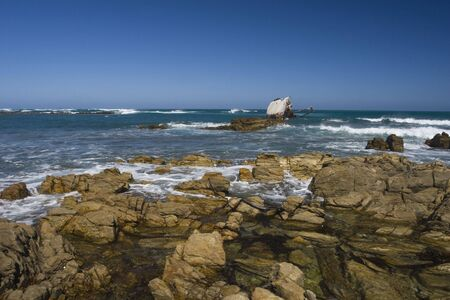 The rocky and hazardous coastline of South Africa Stock Photo - 6449904