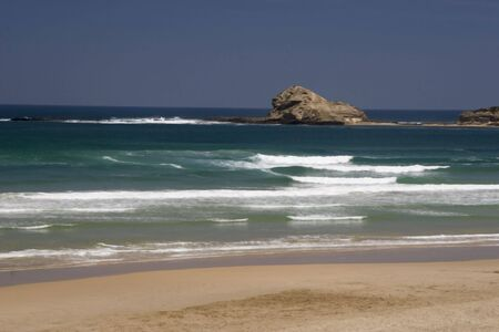 Rocky coastline of the Eastern Cape, South Africa Stock Photo