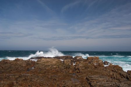 Rocky coastline of the Eastern Cape. South Africa Stock Photo - 6572745