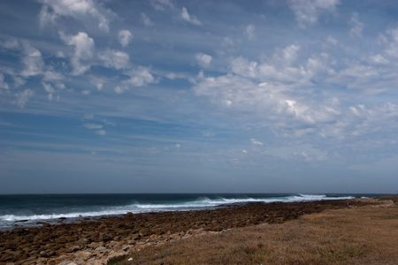 Rocky coastline of the Eastern Cape. South Africa