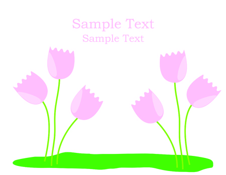 Floral vector greeting card with space for your text Illustration