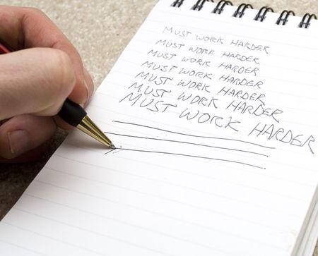 harder: Must work harder Stock Photo