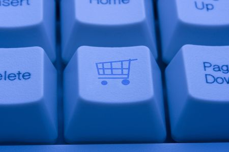 A picture of a keyboard button with a shopping cart icon on it Stock Photo - 2557093
