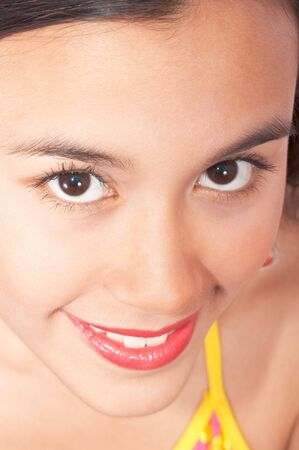 close-up picture of a young teenager - smiling face Stock Photo - 3124053