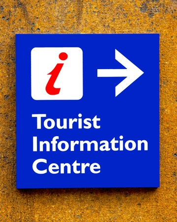 Tourist information Sign On A Wall Stock Photo - 9597688