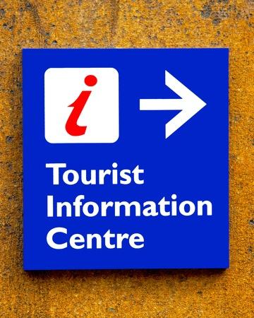 Tourist information Sign On A Wall Фото со стока