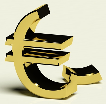 Broken Euro Representing Inflation, Recession, Or Economic Failure Stock Photo - 11725312