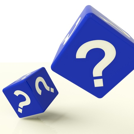 Question Mark Blue Dice As Symbol For Questions And Answers Stock Photo - 11725457
