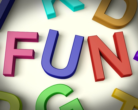 Fun Written In Multicolored Plastic Kids Letters Stock Photo - 11725463