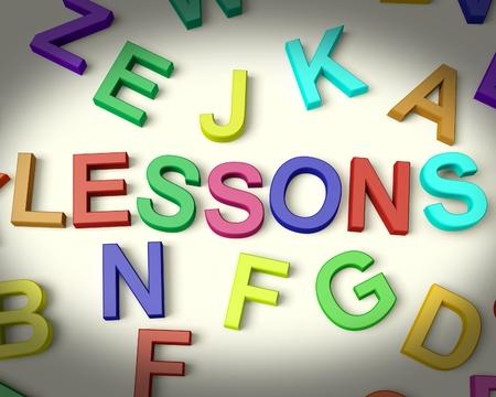 elearn: Lessons Written In Multicolored Plastic Kids Letters