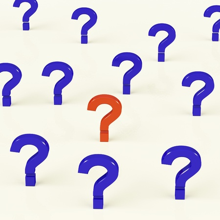 Multiple Blue And Red Question Marks As Symbol For Questions And Answers Stock Photo - 11725549