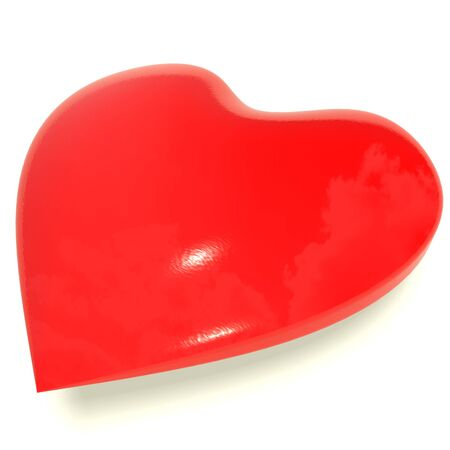Red Heart Representing Love And Romance photo