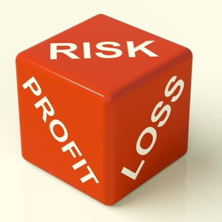 perdidas y ganancias: P�rdida de los beneficios y riesgos Red dados con la incertidumbre del mercado