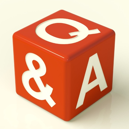 faq's: Question and Answer Red Dice As Symbol For Support