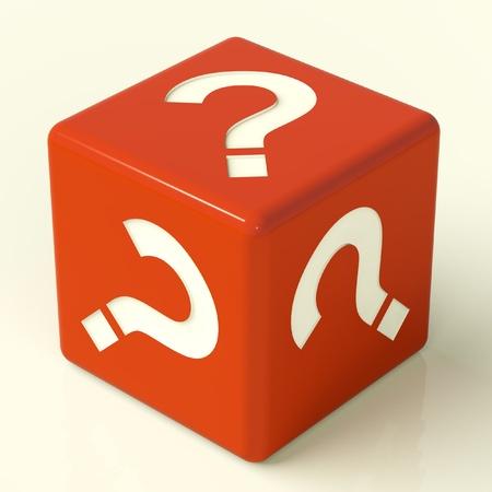 punto di domanda: Question Mark dadi rossi come simbolo per informazioni