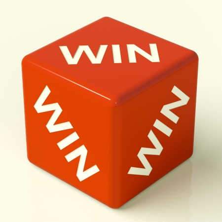 contest: Win Red Dice Representing Champion And Success
