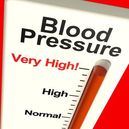 hipertension: Presi�n arterial alta Mostrando la hipertensi�n y mucho estr�s