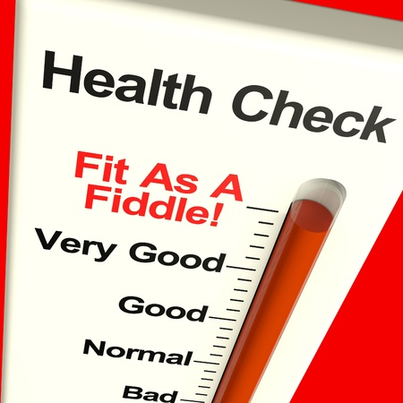 medical condition: Health Check Very Fit Measured With A Big Gauge