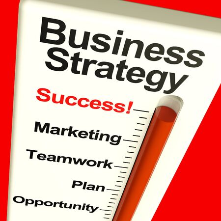 Business Strategy Success Showing Vision And High Motivation photo