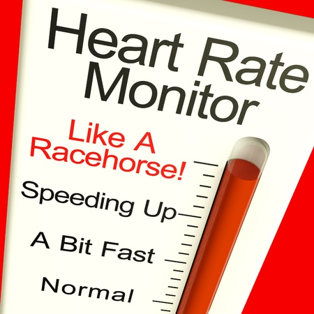 rates: Heart Rate Monitor Very Fast Showing Quicker Beats Stock Photo