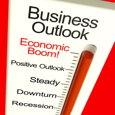 rebounding: Business Outlook Economic Boom Meter Shows Growth And Recovery