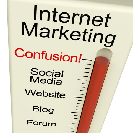 Internet Marketing Confusion Shows Online SEO Strategies And Development photo