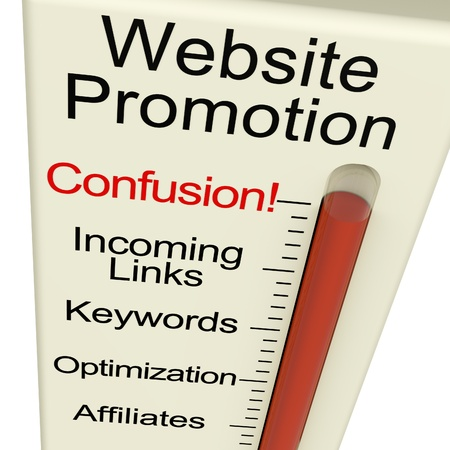 Website Promotion Confusion Shows Online SEO Strategies And Development photo