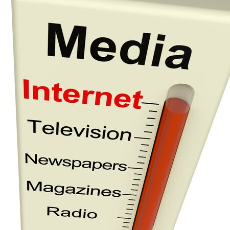 Internet Media Monitor Shows Marketing Alternatives Like Television And Newspapers photo