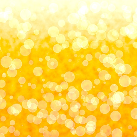 Bokeh Vibrant Yellow Background With Blurry Light Stock Photo