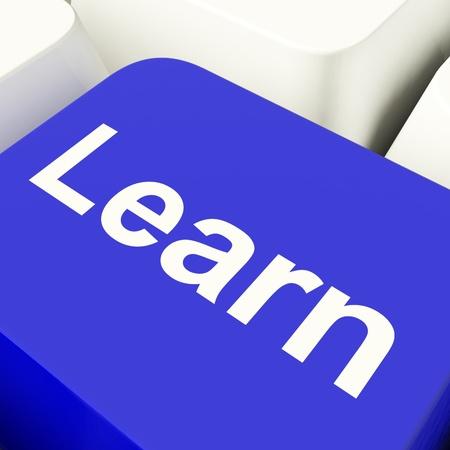 curso de capacitacion: Aprenda Tecla de ordenador en el aprendizaje de Internet Blue Mostrar y Educaci�n