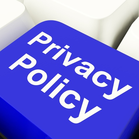 개인 정보 보호: 회사 데이터 보호 기간을 표시 블루에서 개인 정보 보호 정책 컴퓨터 키
