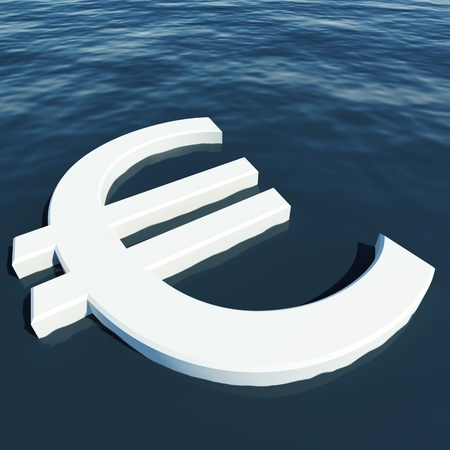Euro Floating Showing Money Wealth Or Earning Stock Photo - 11947974