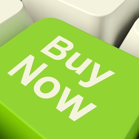 Buy Now Computer Key In Green Showing Purchase And Online Shopping photo