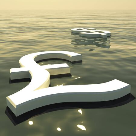 Pound Floating And Dollar Going Away Showing Money Exchange And Forex Stock Photo - 11948202