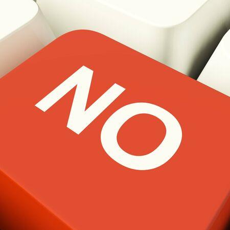 denial: No Computer Key Showing Denial Panic Or Negativity
