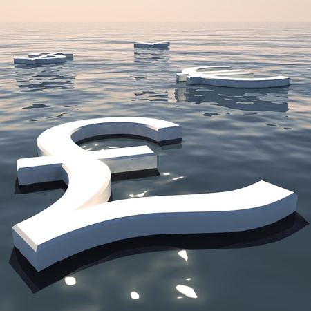 Pound Floating And Currencies Going Away Showing Money Exchange And Forex Stock Photo - 11948307