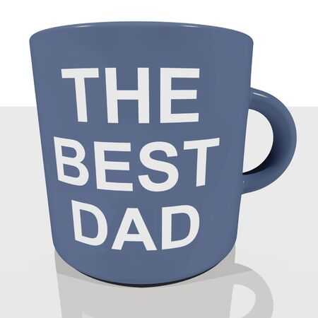 The Best Dad Mug Showing Cool Fathers Stock Photo - 11947556